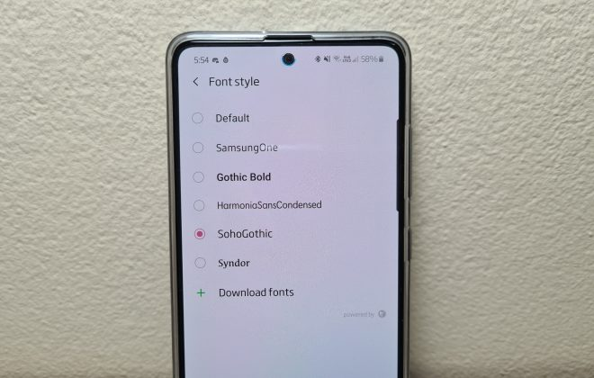 Add custom fonts to your Samsung phone.