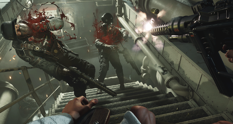 Wolfenstein II: The New Colossus first person shooter campaign